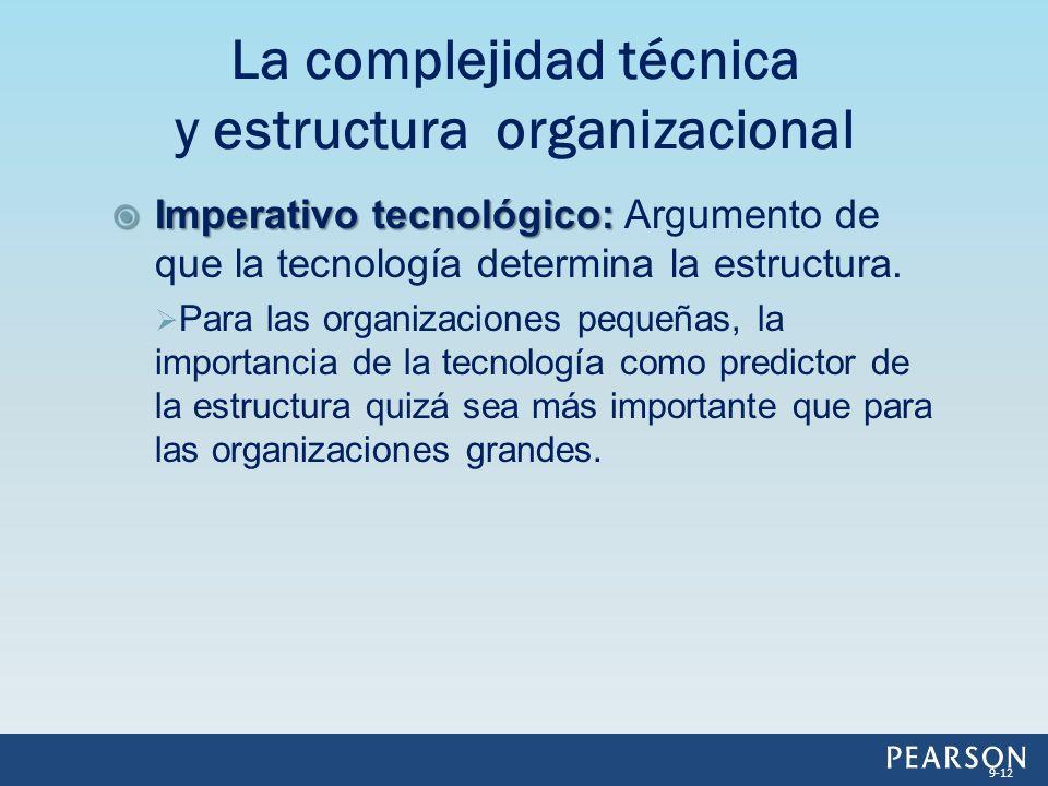 La complejidad técnica y estructura organizacional