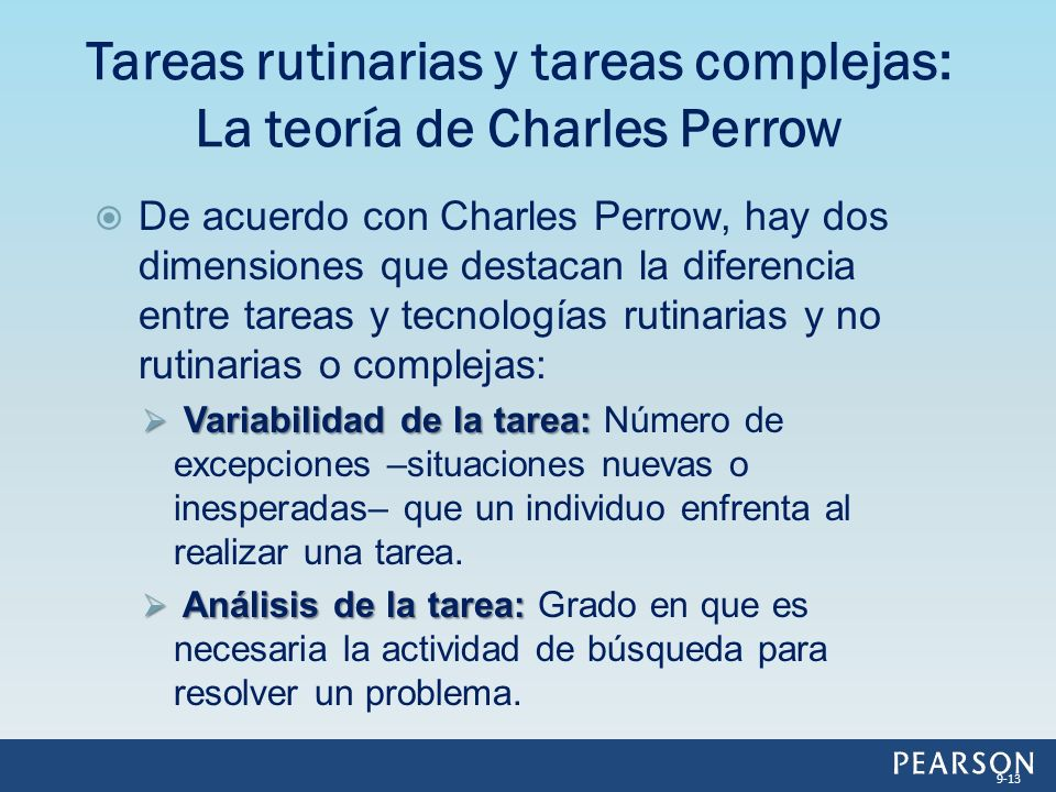 Tareas rutinarias y tareas complejas: La teoría de Charles Perrow