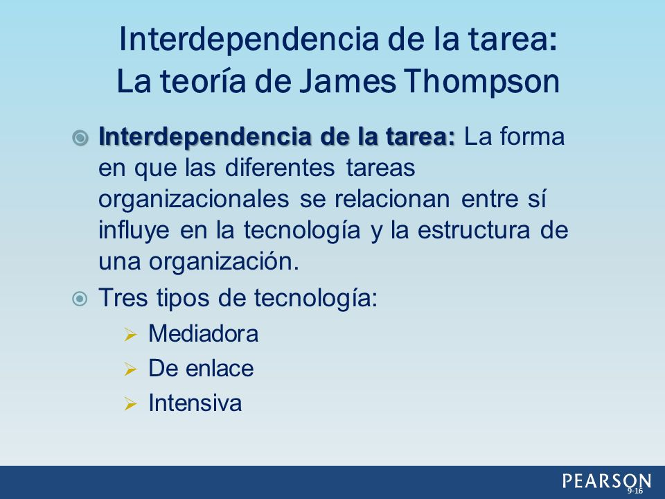 Interdependencia de la tarea: La teoría de James Thompson