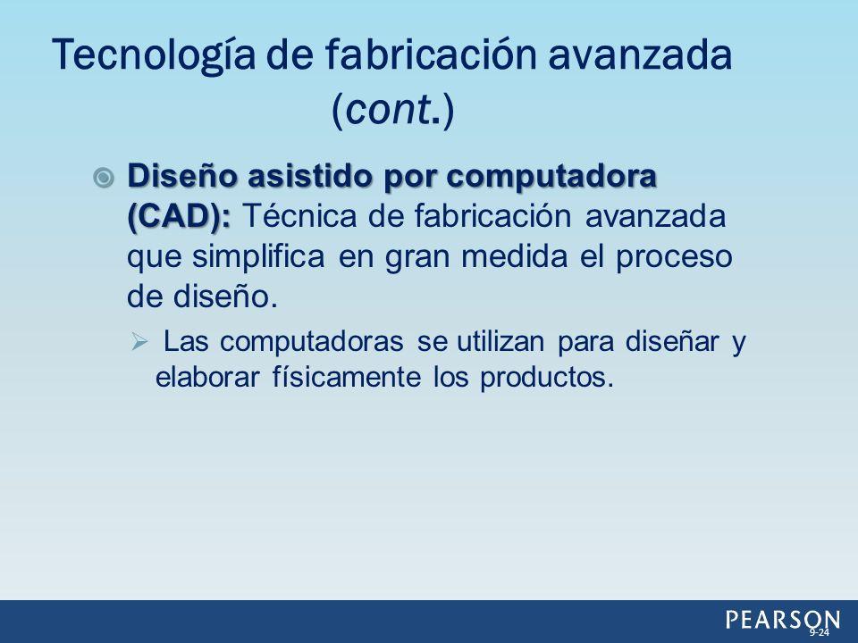 Tecnología de fabricación avanzada (cont.)