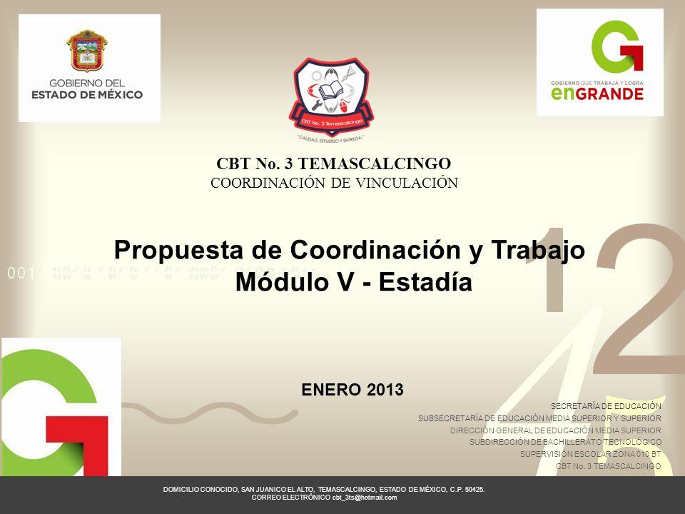 Propuesta de Coordinación y Trabajo