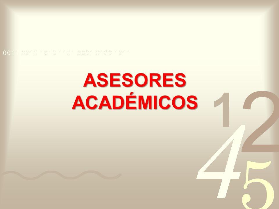 ASESORES ACADÉMICOS