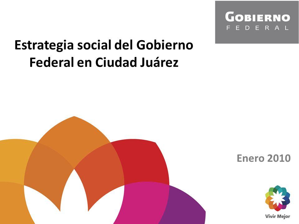 Estrategia social del Gobierno Federal en Ciudad Juárez