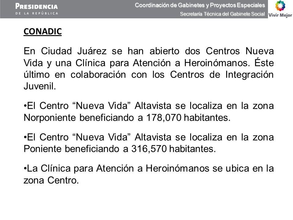 La Clínica para Atención a Heroinómanos se ubica en la zona Centro.