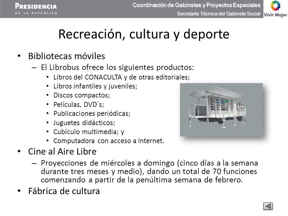 Recreación, cultura y deporte