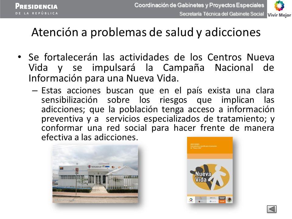 Atención a problemas de salud y adicciones
