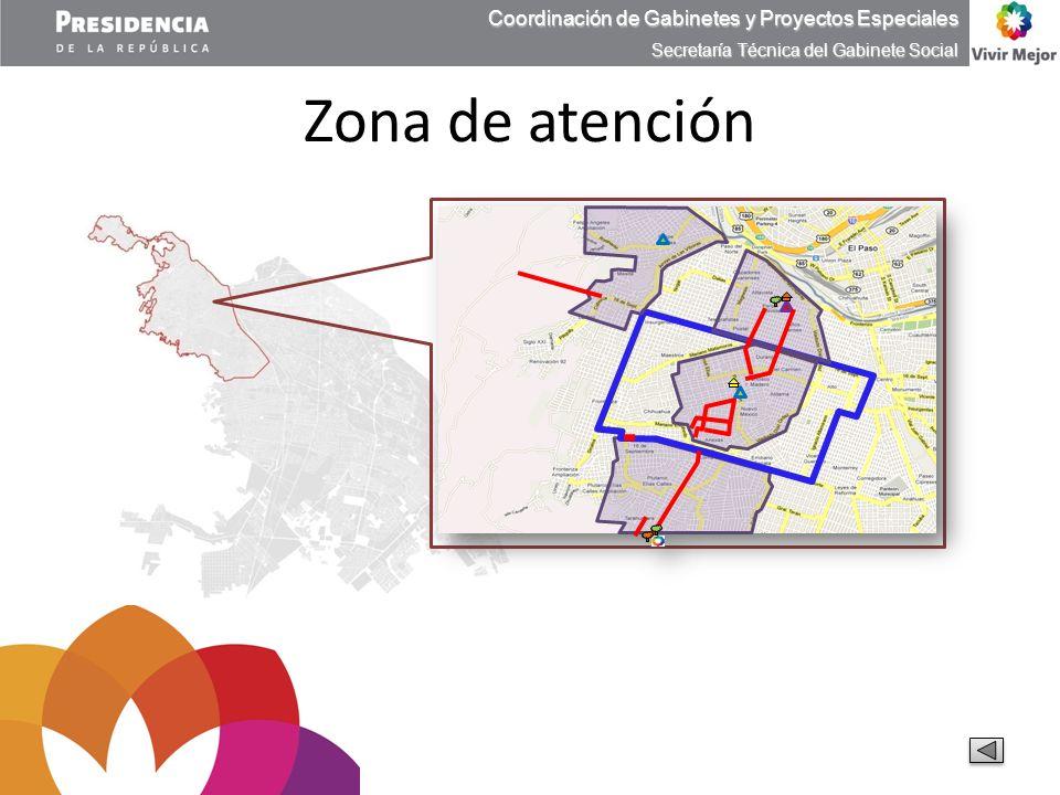 Zona de atención Coordinación de Gabinetes y Proyectos Especiales