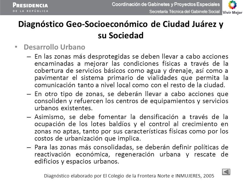 Diagnóstico Geo-Socioeconómico de Ciudad Juárez y su Sociedad