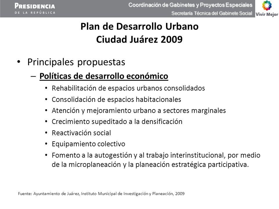 Plan de Desarrollo Urbano Ciudad Juárez 2009