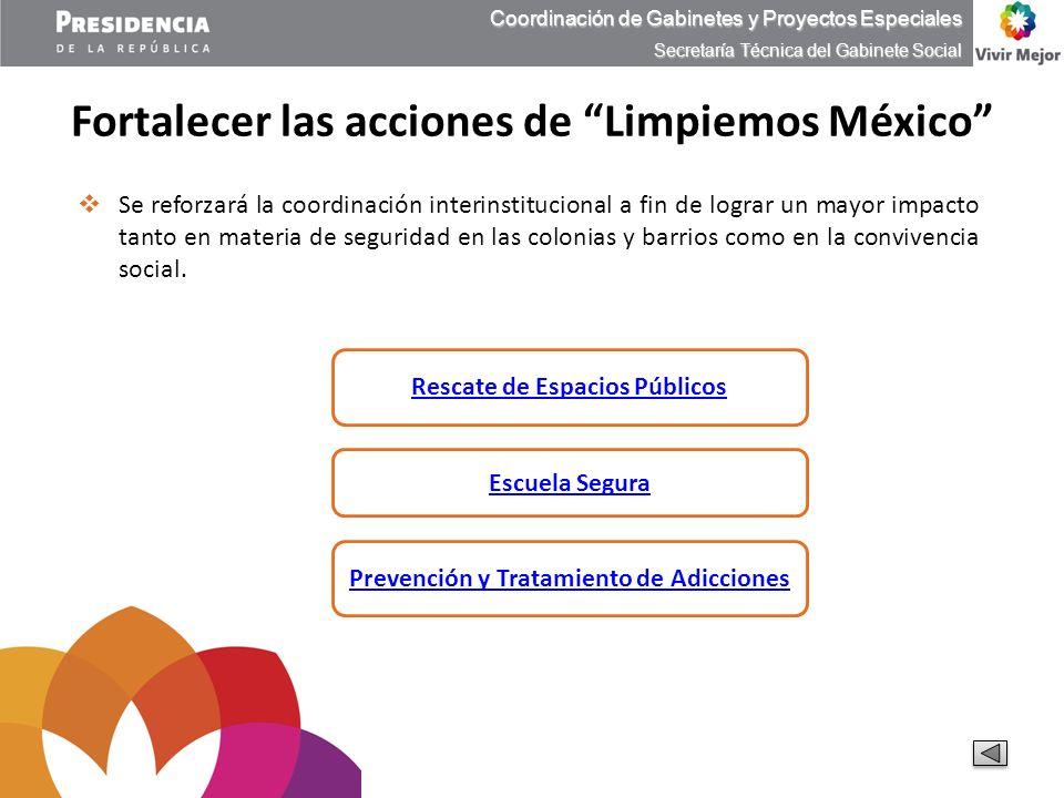 Fortalecer las acciones de Limpiemos México