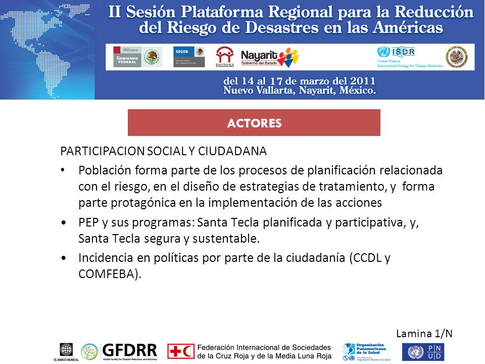 PARTICIPACION SOCIAL Y CIUDADANA