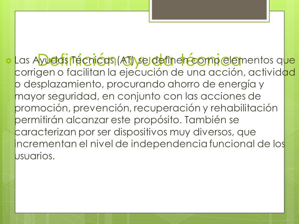 Definición ayuda técnica