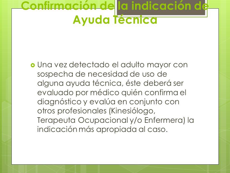 Confirmación de la indicación de Ayuda Técnica