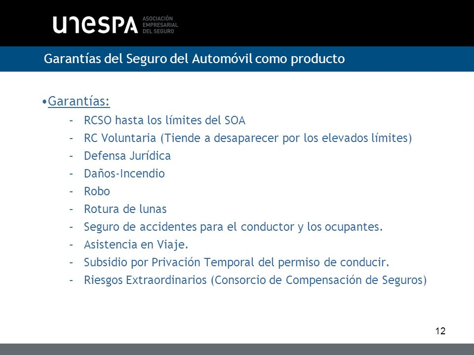 Garantías del Seguro del Automóvil como producto