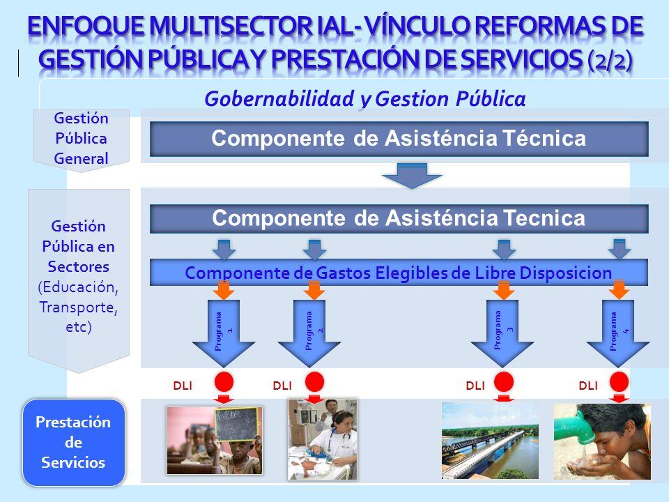 ENFOQUE MULTISECTOR IAL- VÍNCULO REFORMAS DE GESTIÓN PÚBLICA Y PRESTACIÓN DE SERVICIOS (2/2)