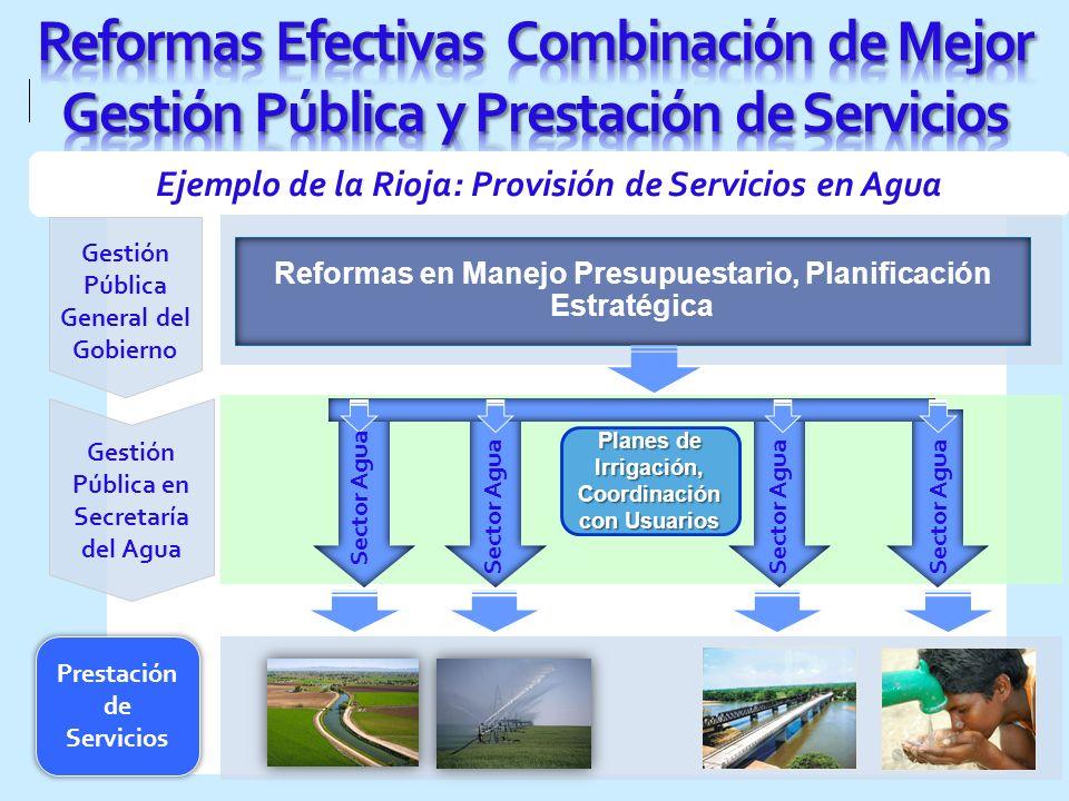 Reformas Efectivas Combinación de Mejor Gestión Pública y Prestación de Servicios