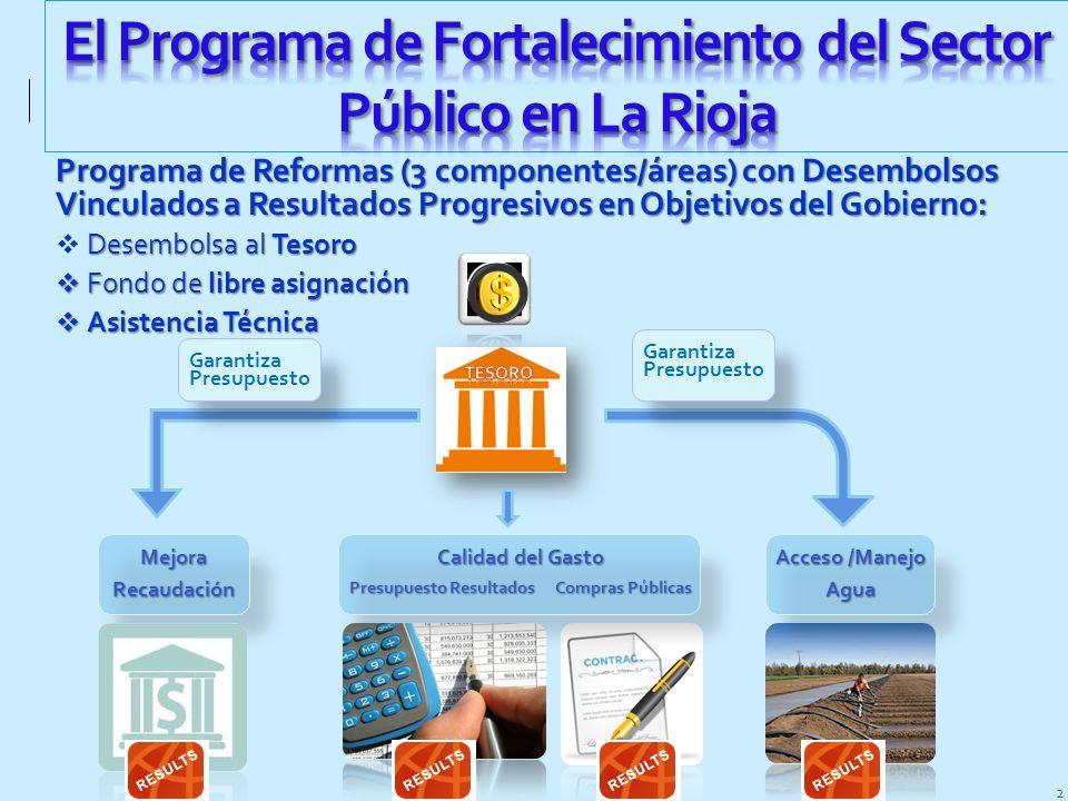 El Programa de Fortalecimiento del Sector Público en La Rioja