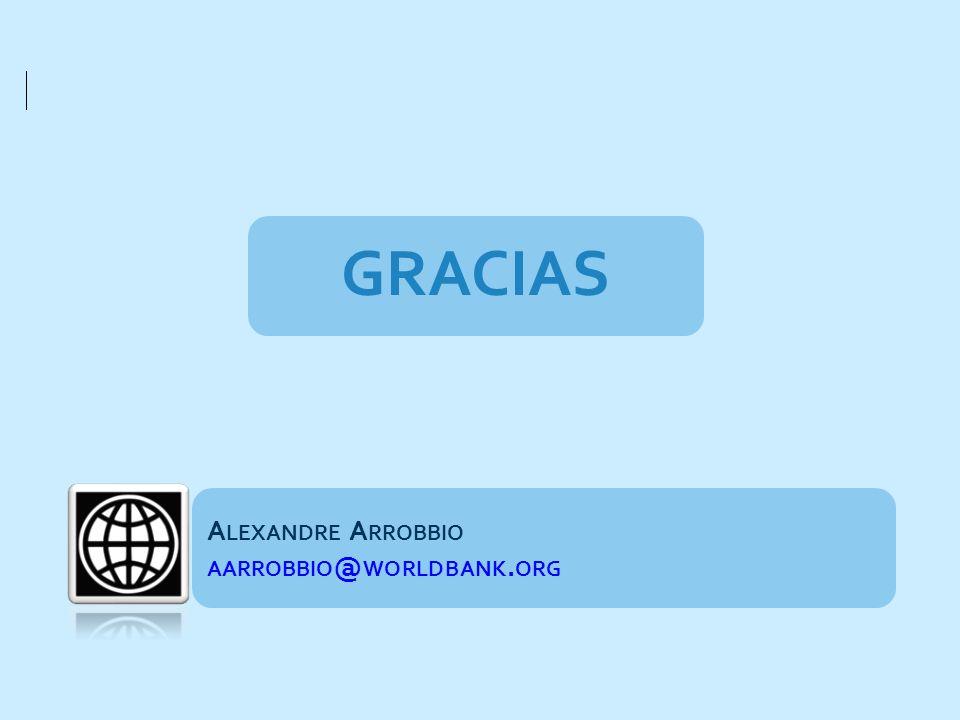 GRACIAS Alexandre Arrobbio aarrobbio@worldbank.org