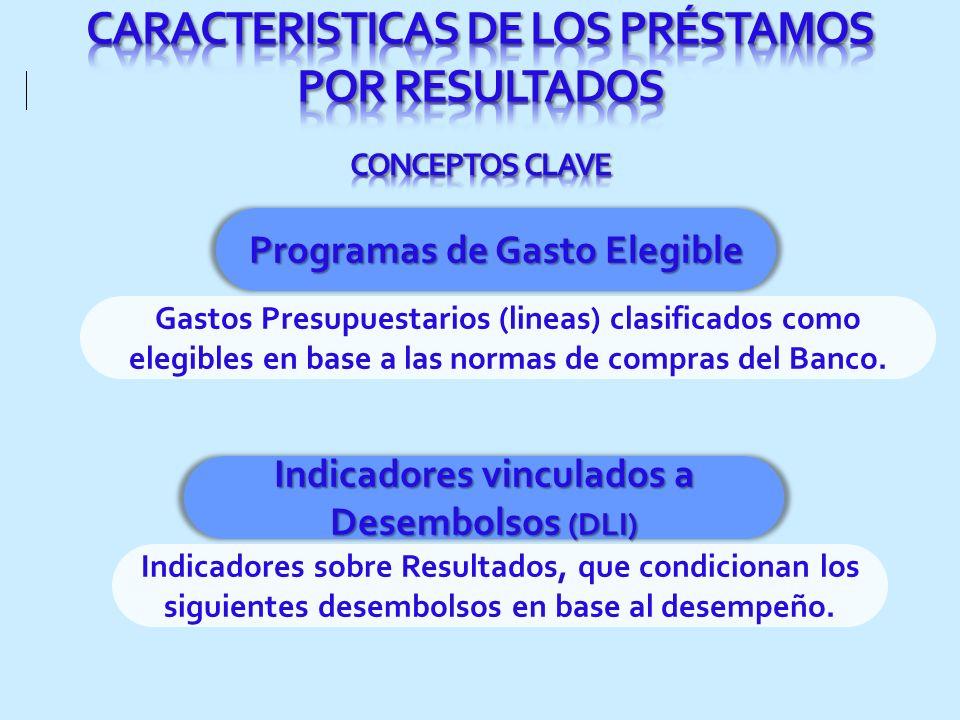 CARACTERISTICAS DE LOS PRÉSTAMOS POR RESULTADOS