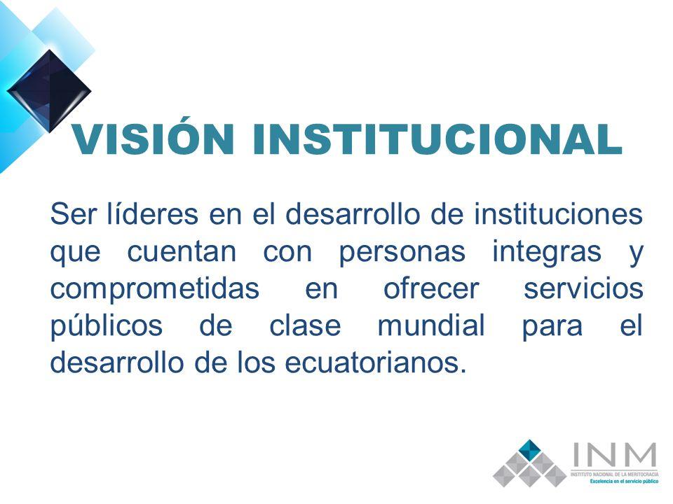 VISIÓN INSTITUCIONAL