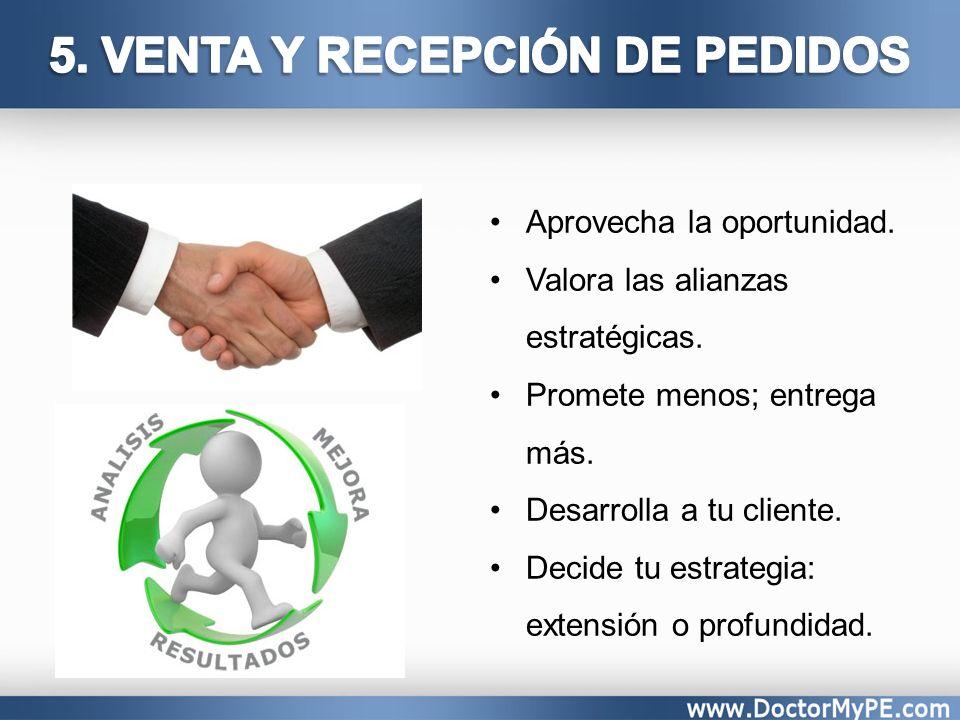5. VENTA Y RECEPCIÓN DE PEDIDOS