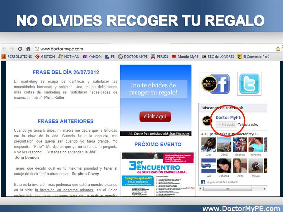 NO OLVIDES RECOGER TU REGALO