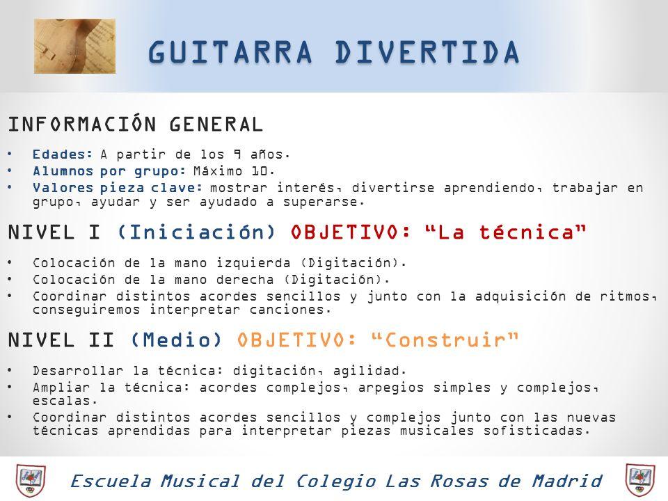 Escuela Musical del Colegio Las Rosas de Madrid