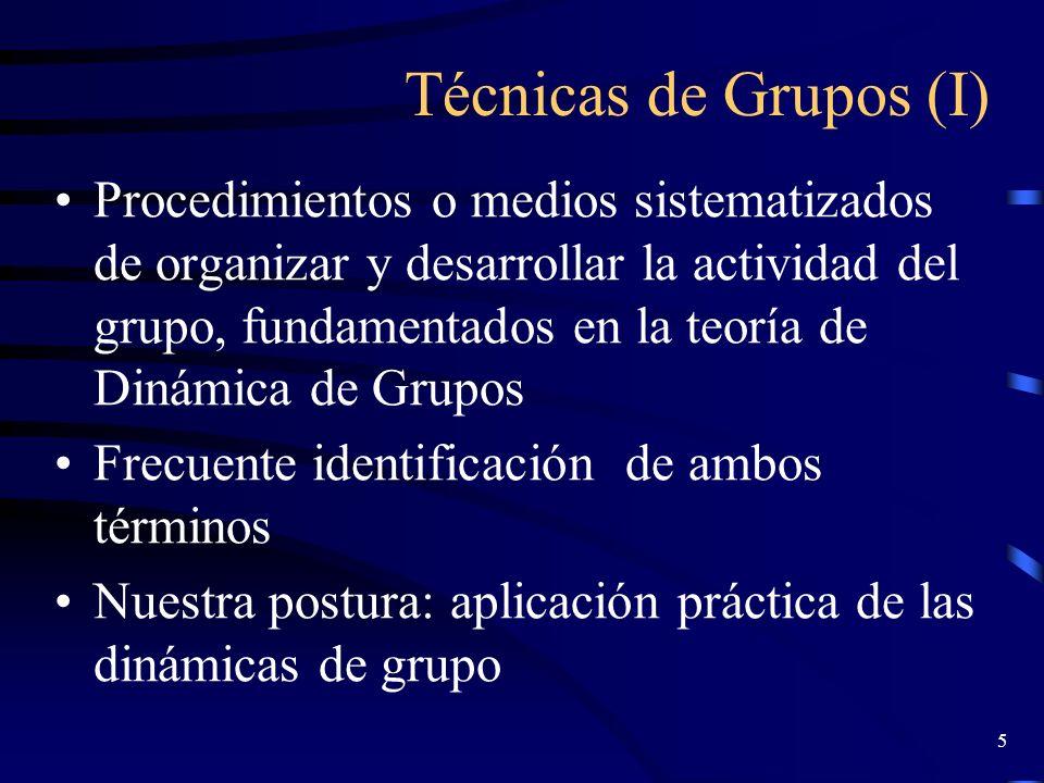 Técnicas de Grupos (I)
