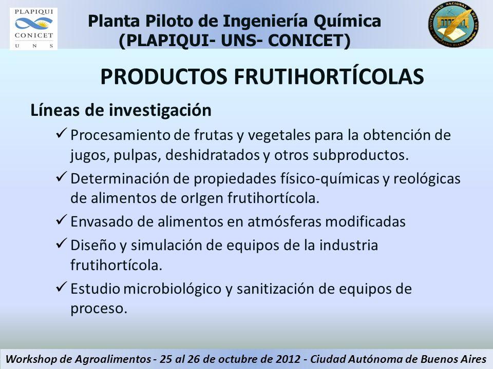 PRODUCTOS FRUTIHORTÍCOLAS