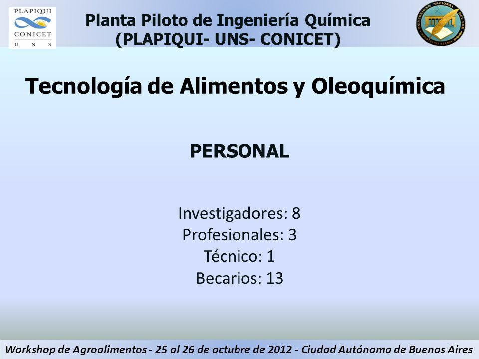 Investigadores: 8 Profesionales: 3 Técnico: 1 Becarios: 13