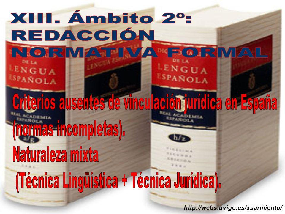Criterios ausentes de vinculación jurídica en España