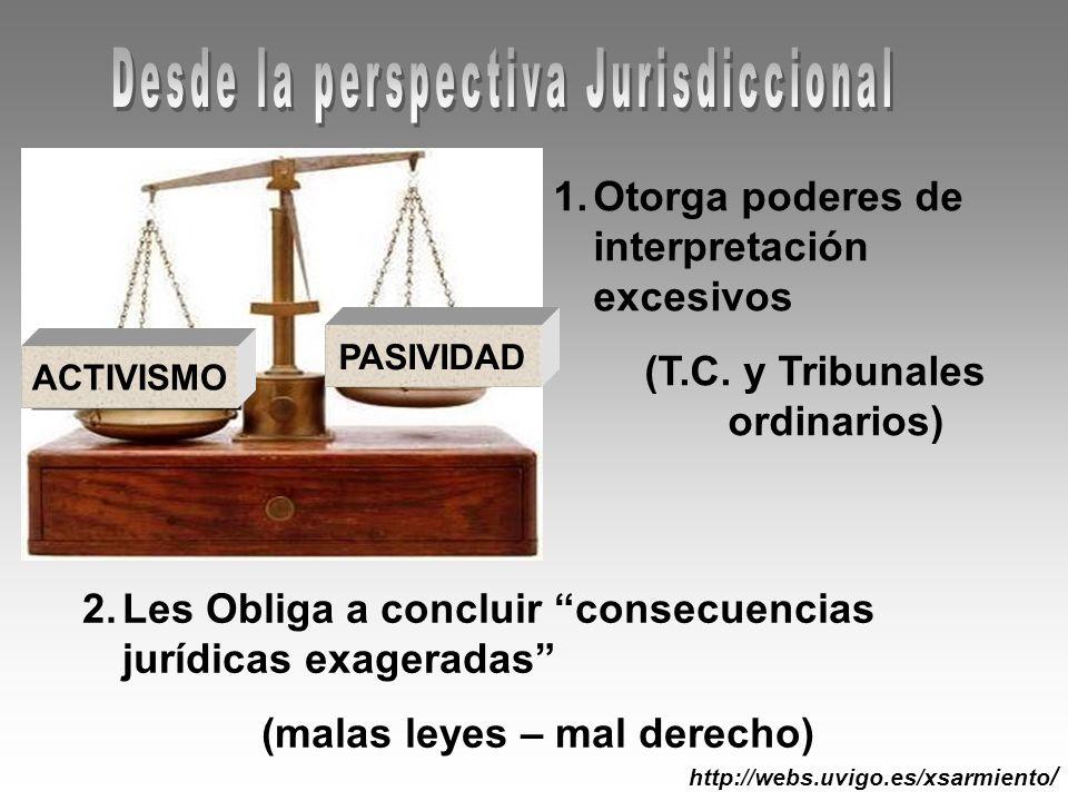(T.C. y Tribunales ordinarios) (malas leyes – mal derecho)