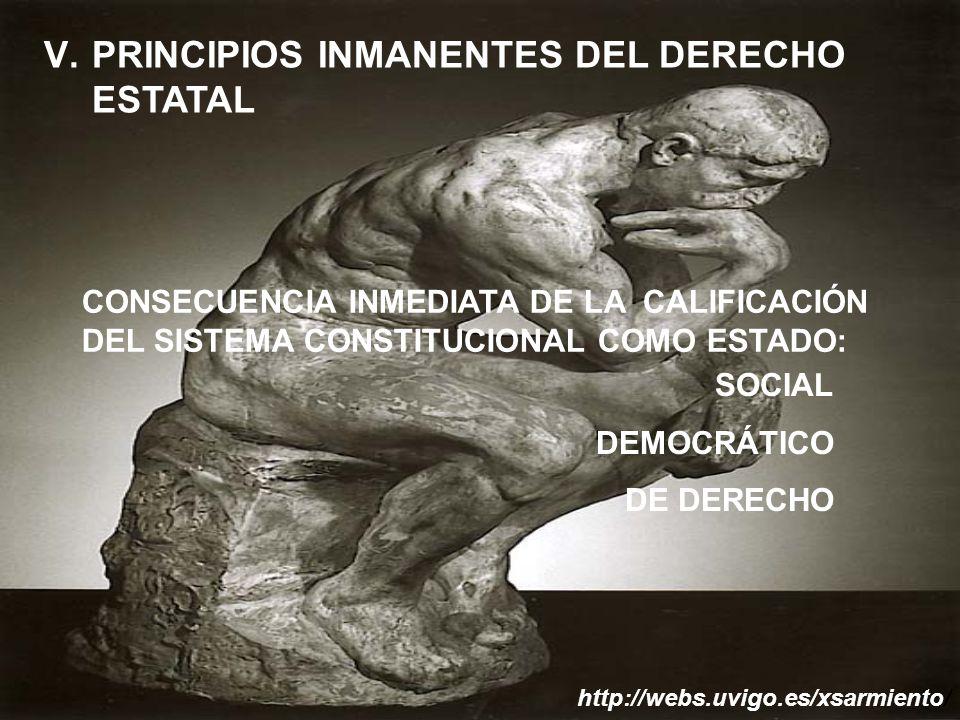 PRINCIPIOS INMANENTES DEL DERECHO ESTATAL