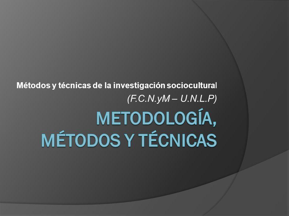 Metodología, métodos y técnicas
