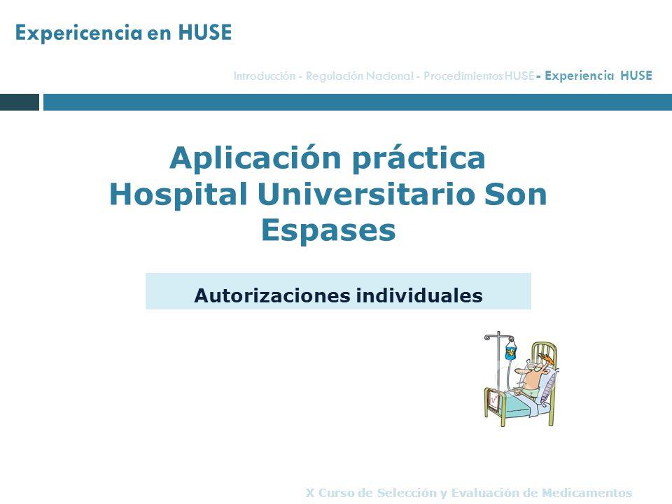 Aplicación práctica Hospital Universitario Son Espases