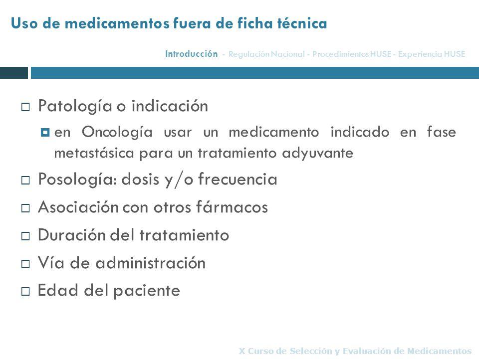 Patología o indicación