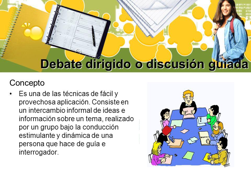 Debate dirigido o discusión guiada