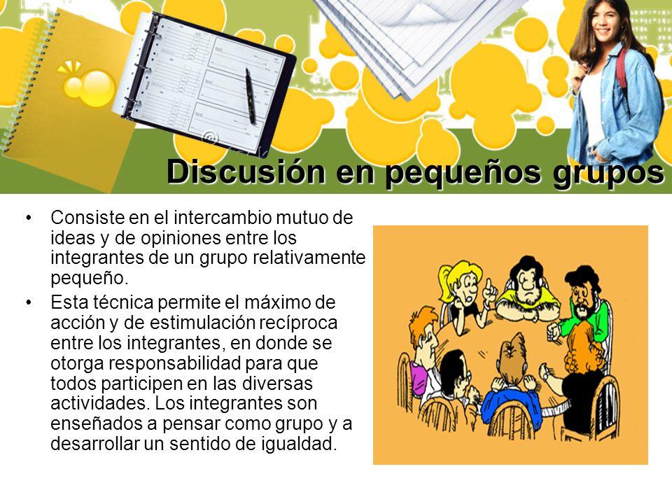 Discusión en pequeños grupos