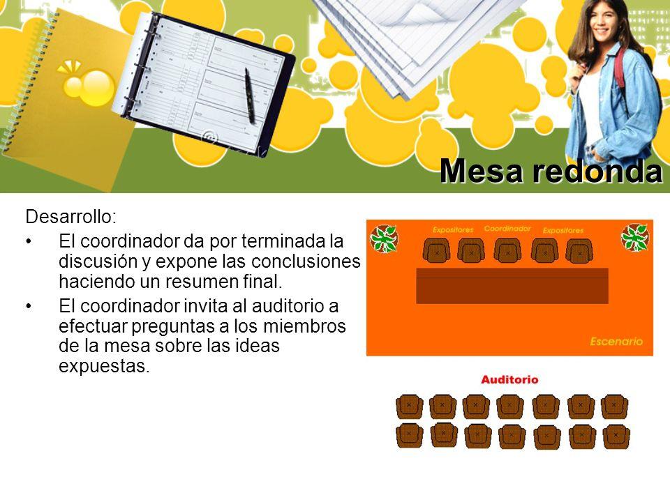 Mesa redonda Desarrollo:
