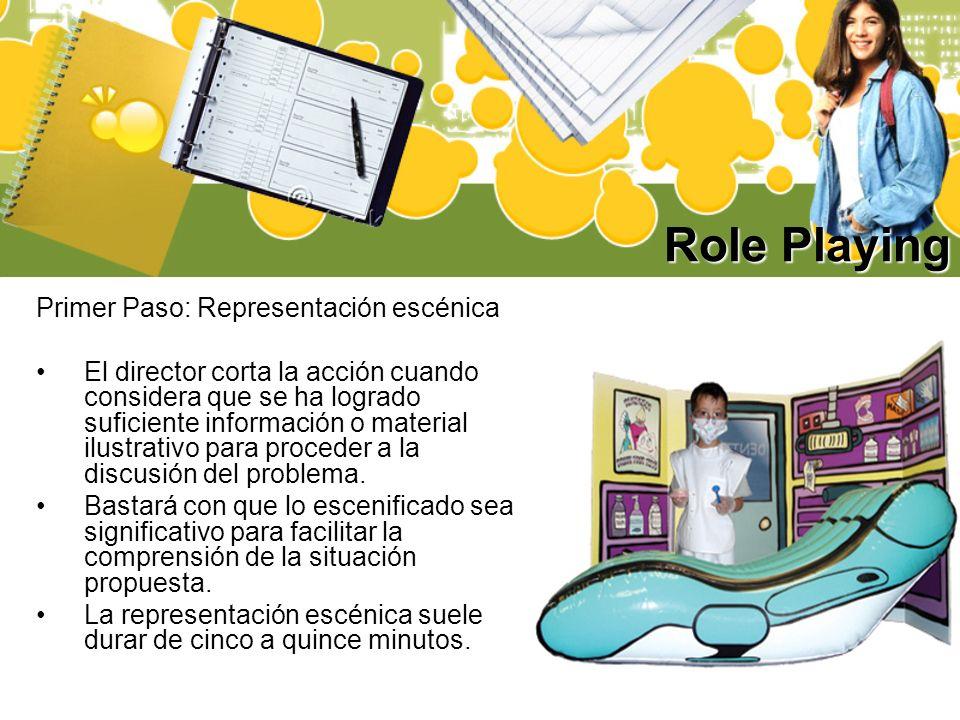 Role Playing Primer Paso: Representación escénica