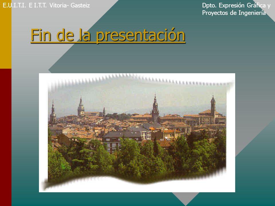 Fin de la presentación E.U.I.T.I. E I.T.T. Vitoria- Gasteiz