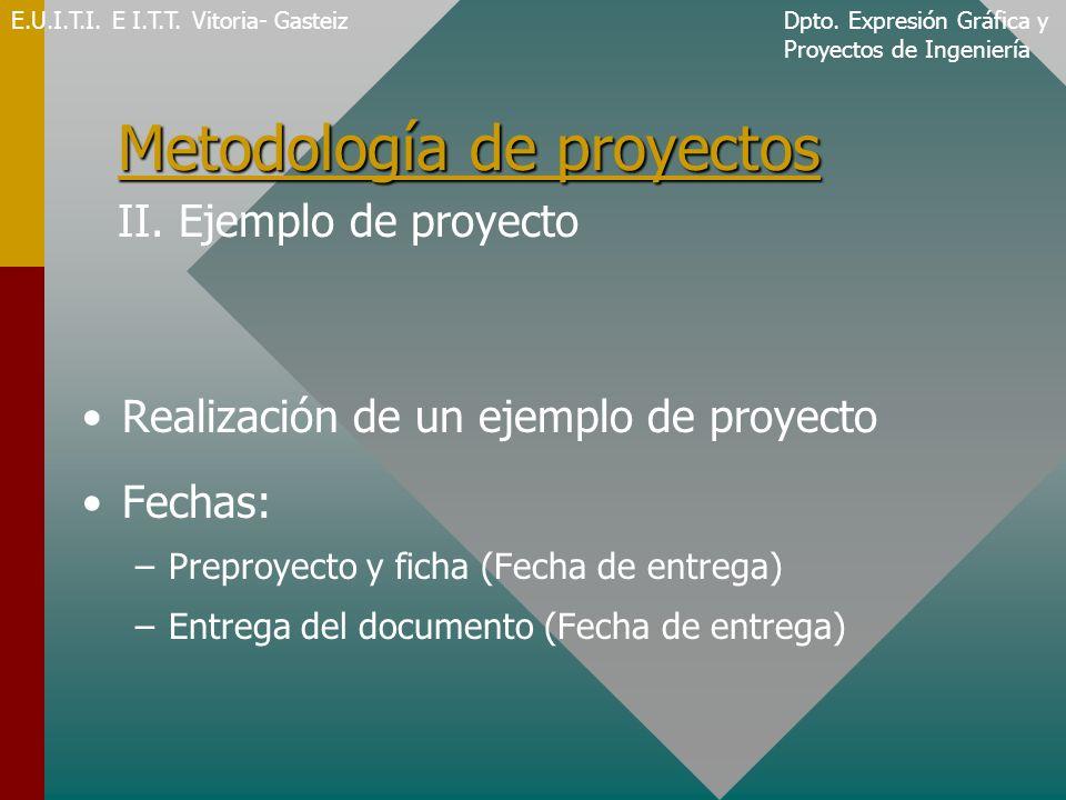 Metodología de proyectos II. Ejemplo de proyecto