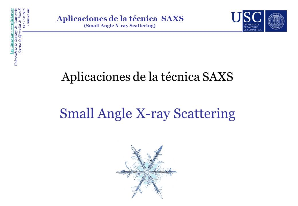 Small Angle X-ray Scattering