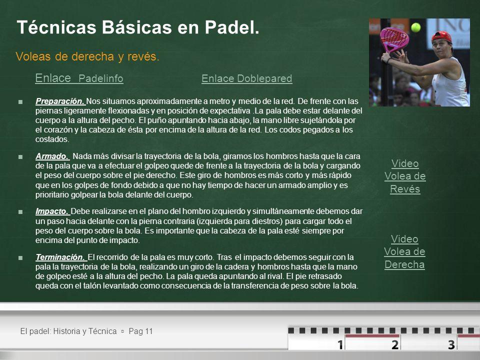 Técnicas Básicas en Padel.