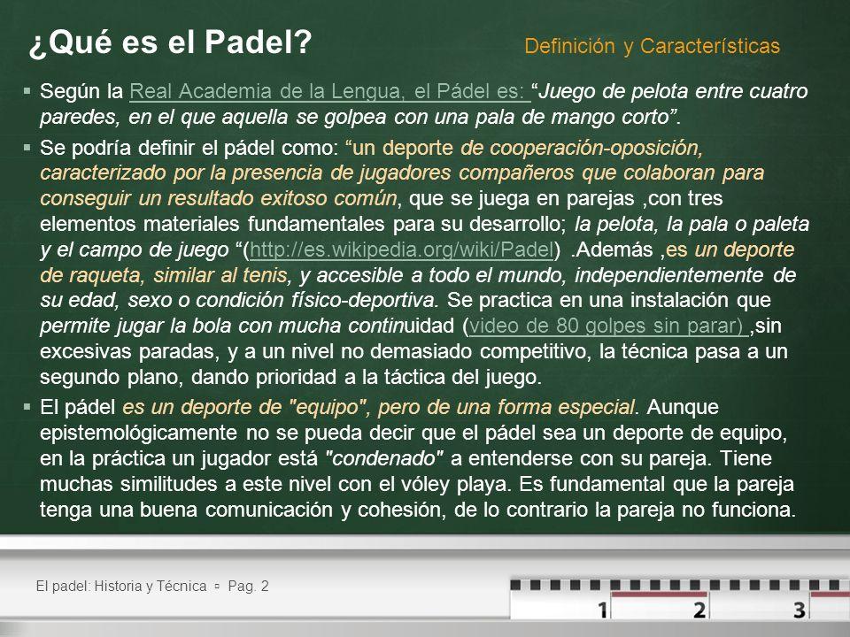 ¿Qué es el Padel Definición y Características