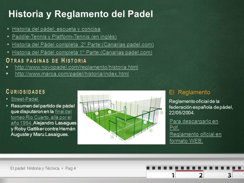 Historia y Reglamento del Padel