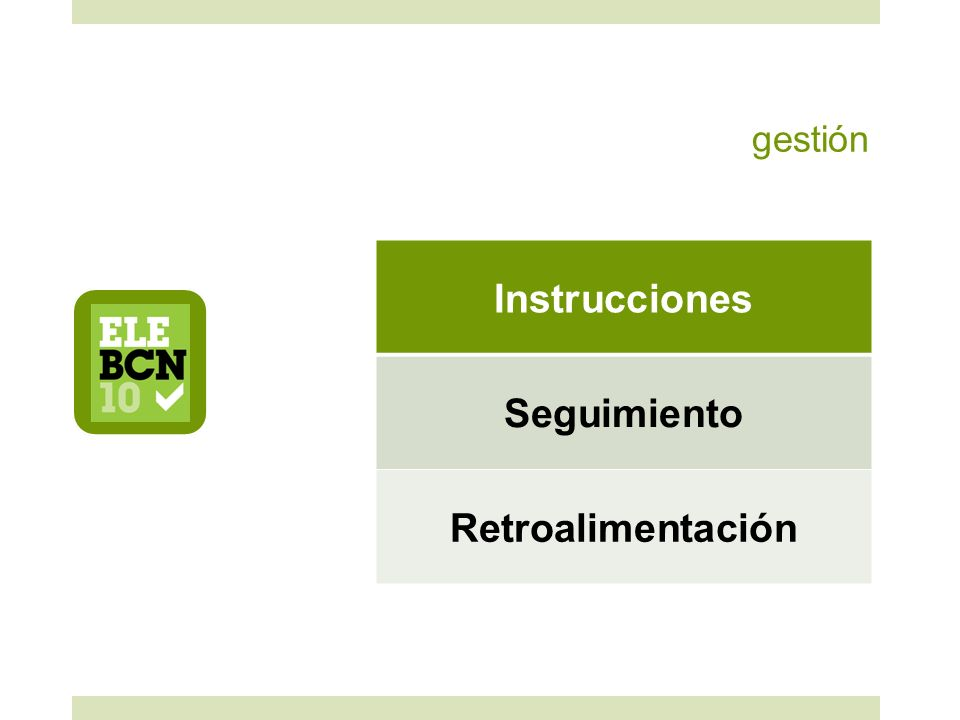 Instrucciones Seguimiento Retroalimentación
