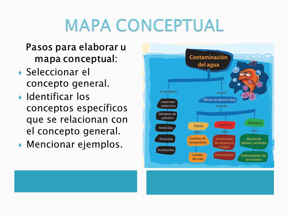 Pasos para elaborar u mapa conceptual: