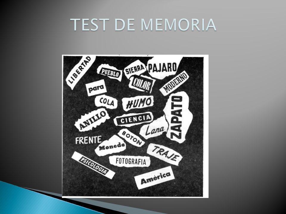 TEST DE MEMORIA