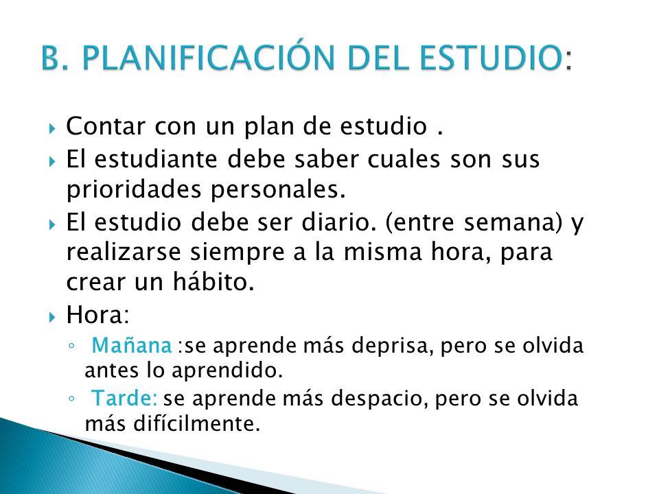 B. PLANIFICACIÓN DEL ESTUDIO: